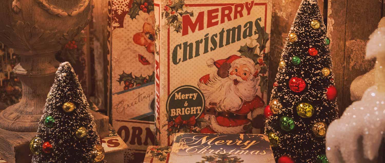 santa holiday banner