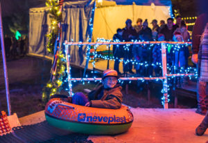 snowless tubing christmas