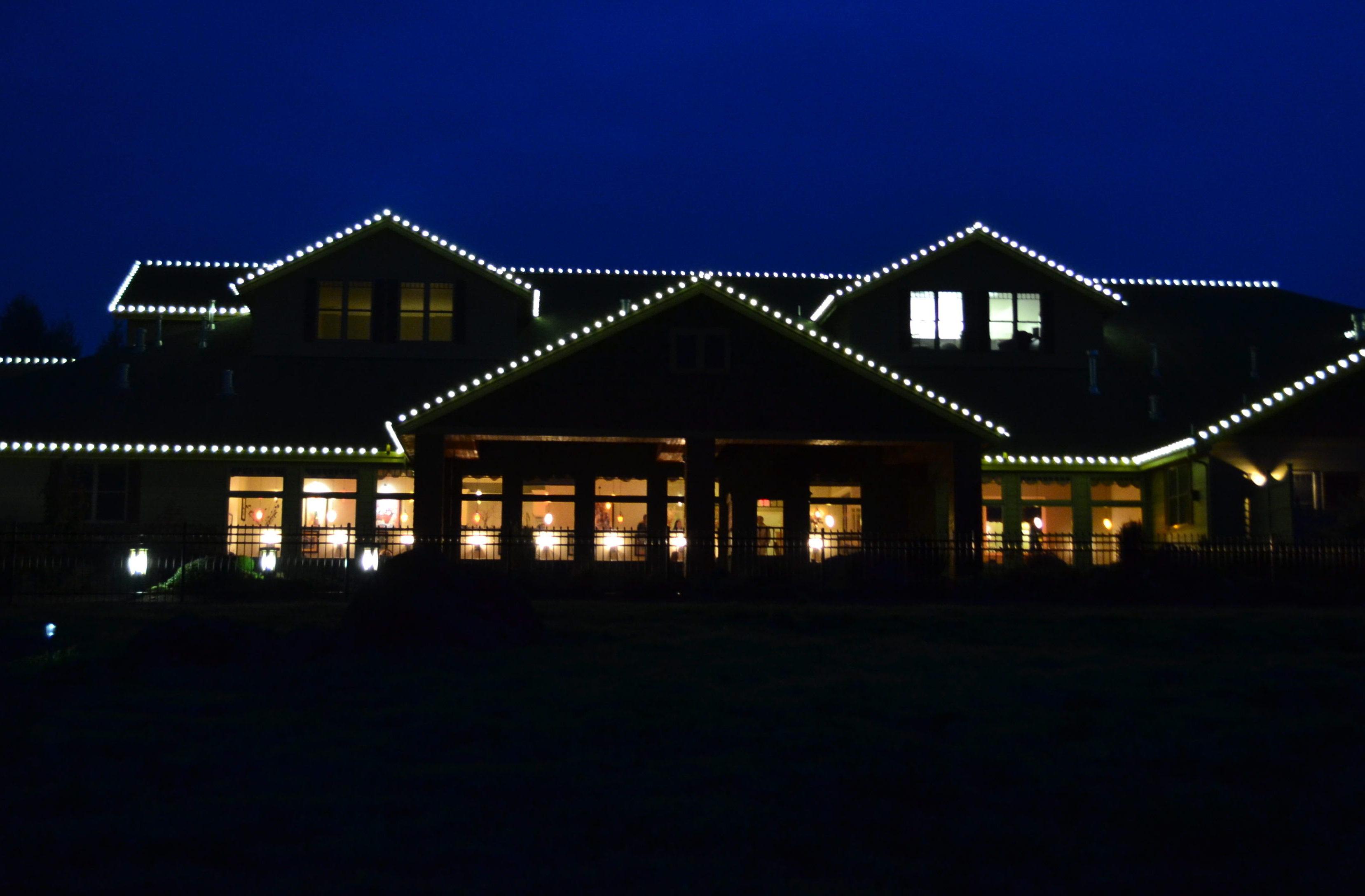 resort lights xmas