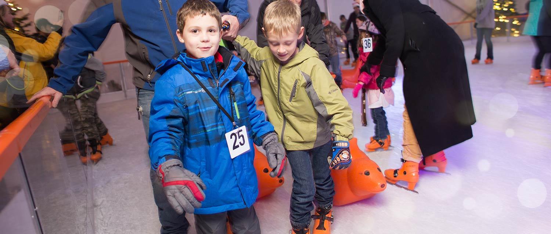 kids enjoying ice skating