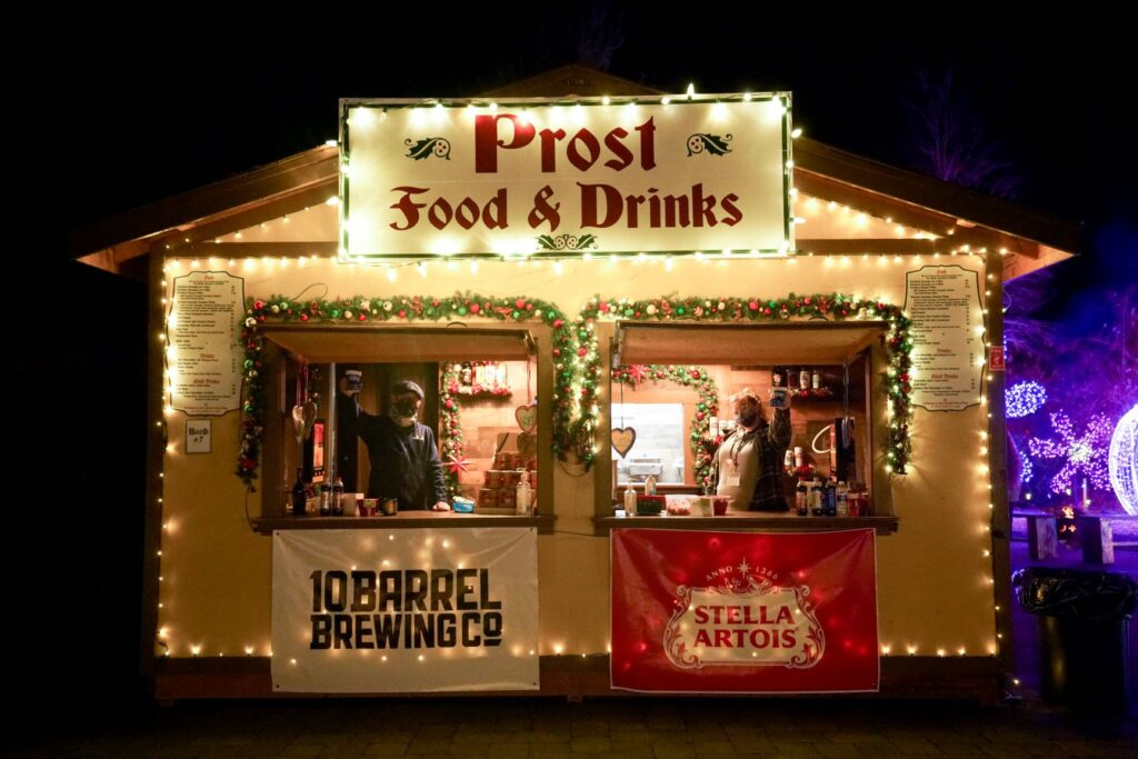 Prost Foodo & Drinks Booth with lights