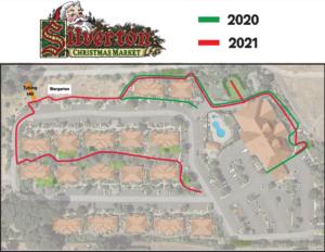 Silverton Chirstmas Market Map 2020 versus 2021